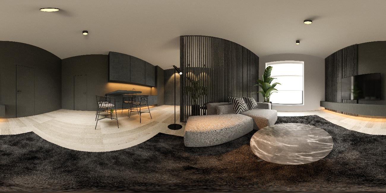 360-panorana-black-minimalist-interior